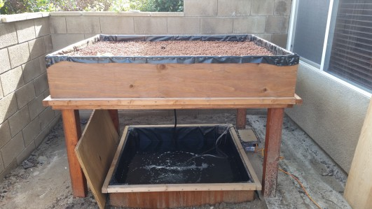 Building the fish tank or pond of my aquaponics system for Aquaponics grow bed